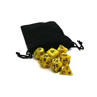 Gold Dice with Black Numbers