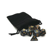 Black Dice with Gold Numbers